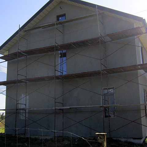 Штукатурення фасаду машинним способом